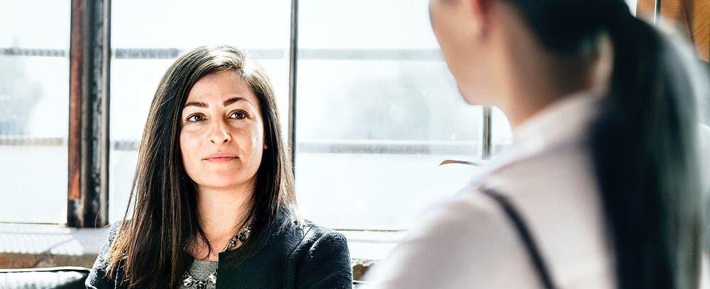 Terapeut och klient i terapi